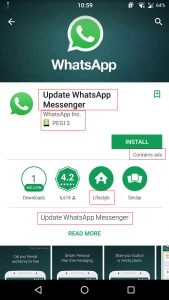 WhatsApp fake app data